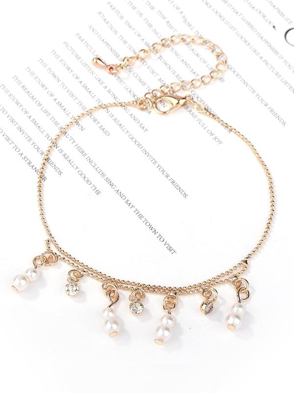 7b8299233433 Pulsera con diseño de perla artificial