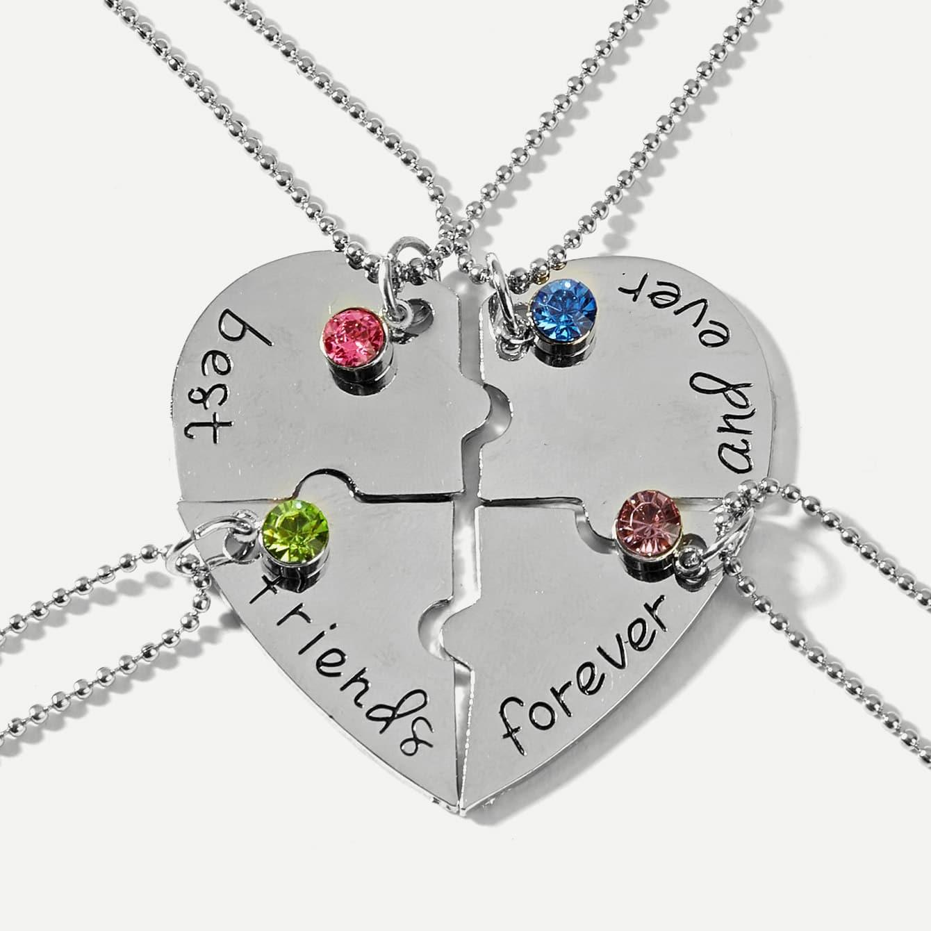 Spleißbare Halskette mit Strass 4 Stücke