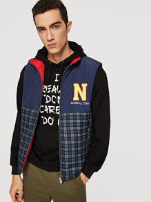 Men Cut and Sew Zip Up Jacket