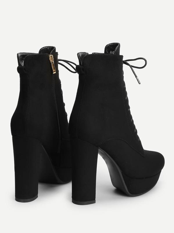 6e7587177826f Cheap Lace Up Platform Block Heeled Boots for sale Australia | SHEIN