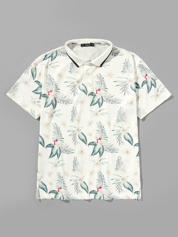 b3feaeb6 Cheap Men Tropical Print Polo Shirt for sale Australia | SHEIN