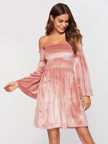 Frill Off The Shoulder Dress