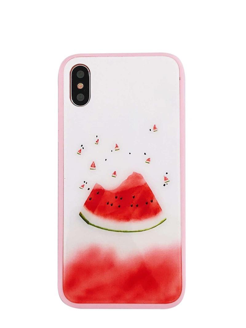 huge selection of 87d0c 3d3e8 Watermelon Print iPhone Case