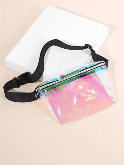 Clear Iridescent Bum Bag