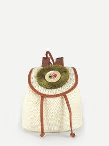 Girls Faux Pearl Detail Backpack