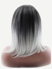 Ombre Short Straight Wig 1pc