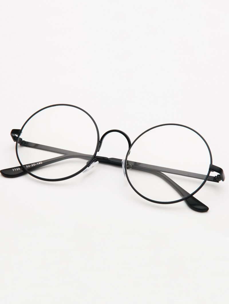 Guys Round Lens Glasses by Romwe