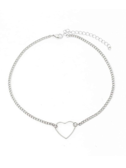 Open Heart Detail Chain Choker