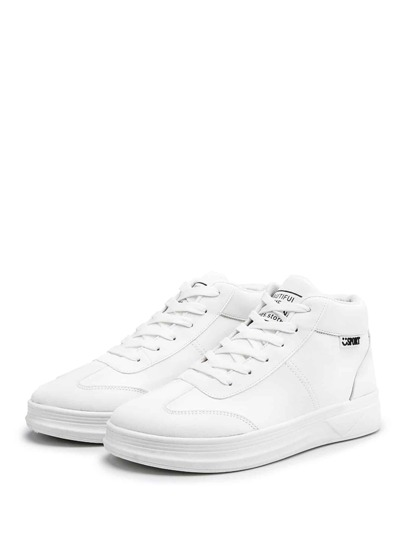 Guys Lace Up High Top Sneakers