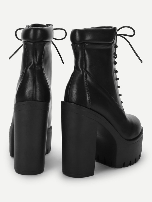 2e419a3d32 Lace-Up Platform Boots | SHEIN IN