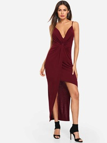 Twist Front Cami Dress