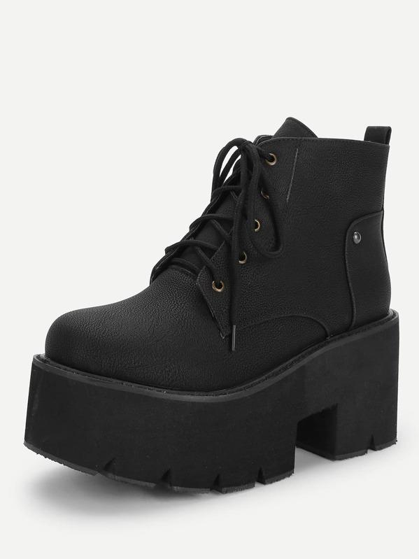 3203aaede2 Cheap Lace-Up Platform Boots for sale Australia | SHEIN
