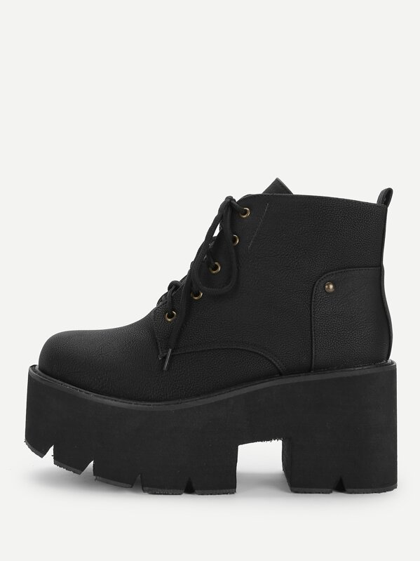 4679587d66 Cheap Lace-Up Platform Boots for sale Australia | SHEIN