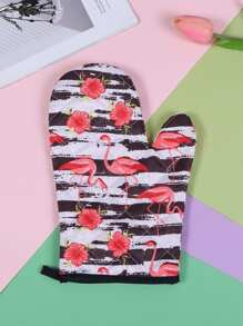 Flamingo Print Oven Glove