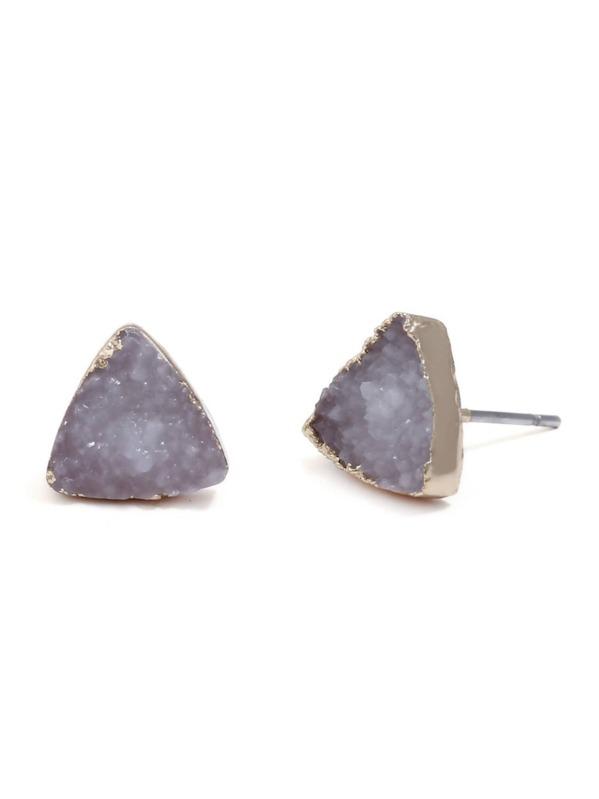 2730faaa74 Triangle Design Cute Stud Earrings 1pair   SHEIN