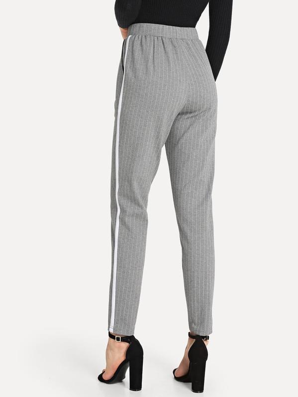 b43a901b52 Elastic Waist Slant Pocket Striped Pants | SHEIN IN