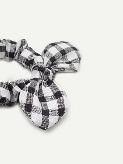 Girls Gingham Hair Tie 1pcFor Women-romwe aa999a69f74