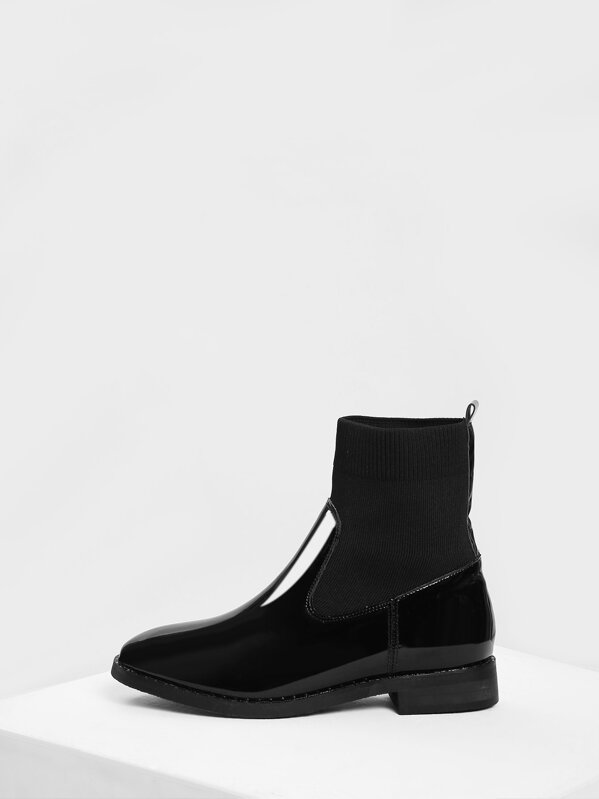 abf54c0806 Plain Sock Boots | SHEIN