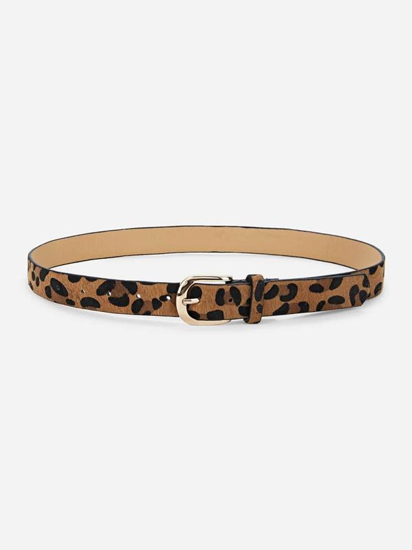 Leopardo En Cinturón Leopardo En Piel Cinturón Sintética Piel deWQrxoCB