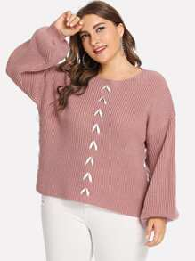 Plus Drop Shoulder Oversized Jumper