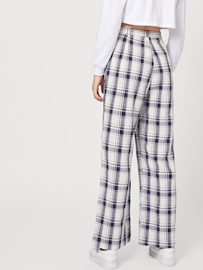 cadec5e8dd Home · Bottoms · Pants; Tartan Plaid Wide Leg Pants