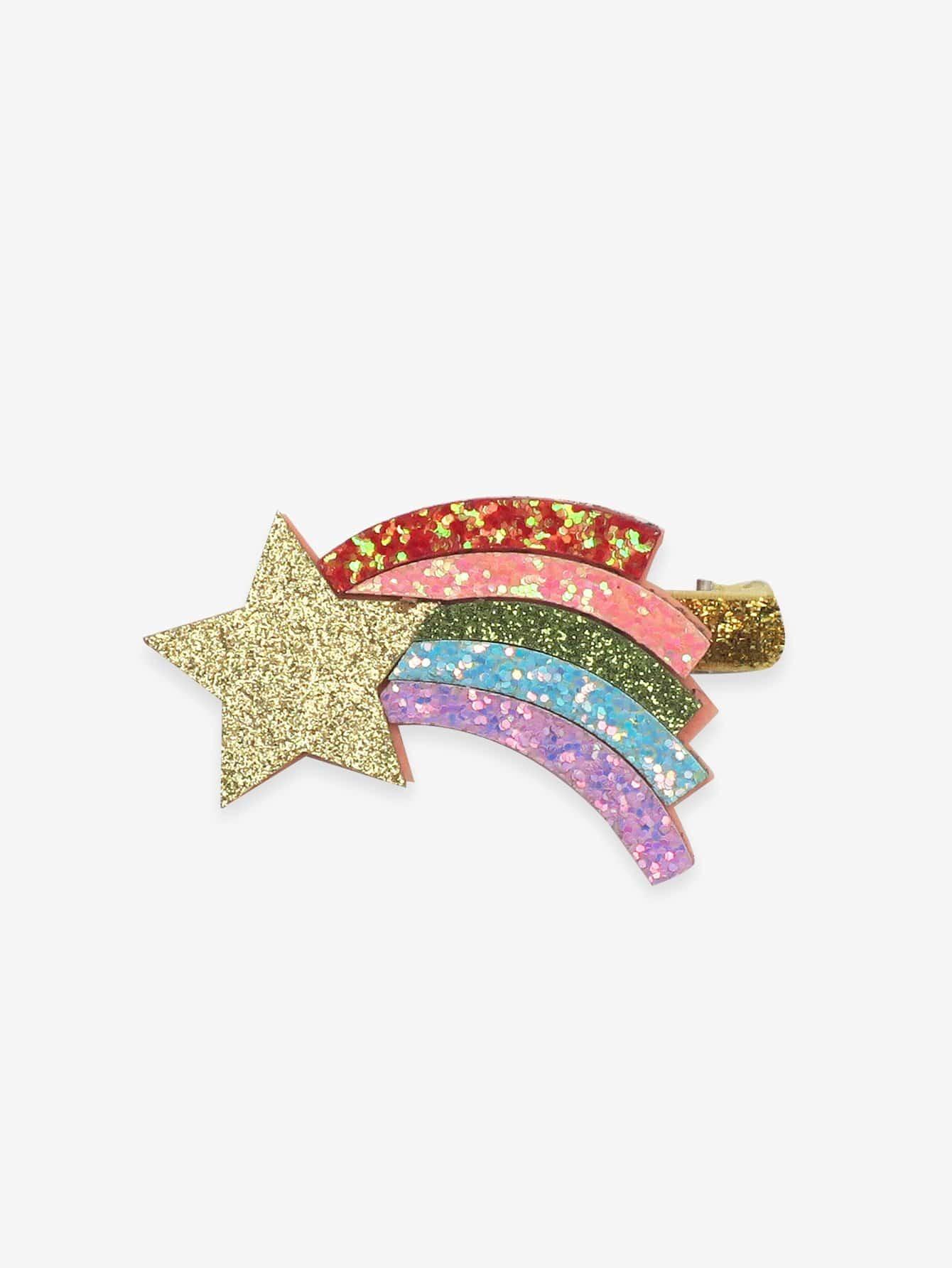 Girls Glitter Star Hair Clip 1pc EmmaCloth-Women Fast ...