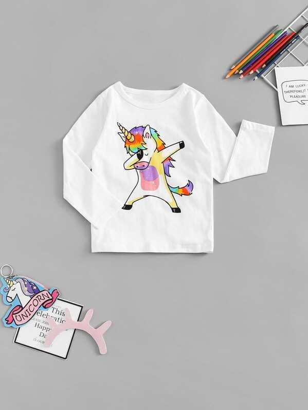 9805ae876 Toddler Boys Unicorn Print Tee   SHEIN UK