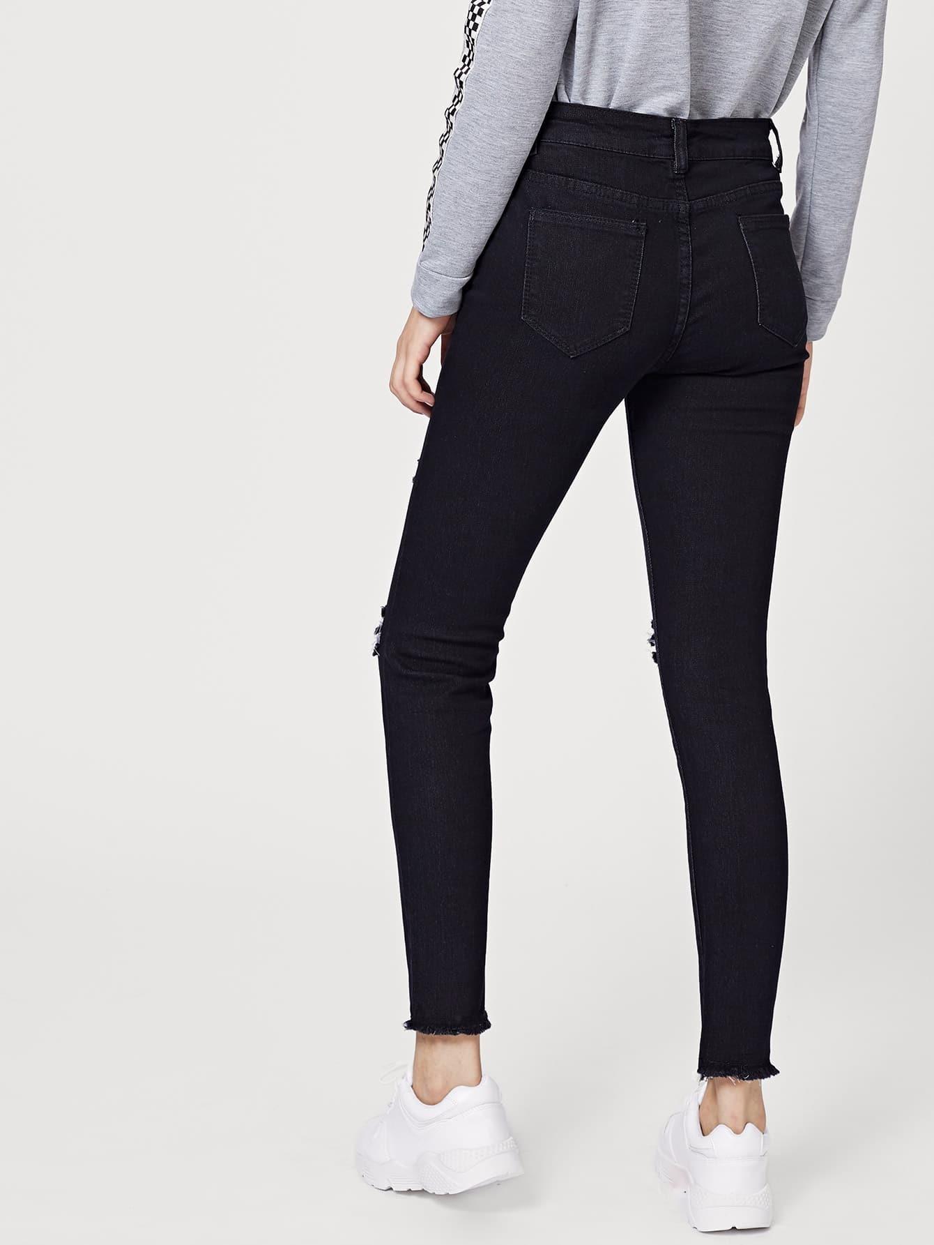 reine zerrissene jeans german shein sheinside. Black Bedroom Furniture Sets. Home Design Ideas