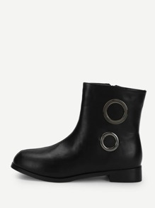 O-Ring Detail PU Boots