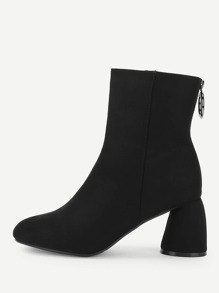 Ring Decor Block Heeled Boots