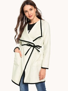 Contrast Binding Pocket Patched Coat