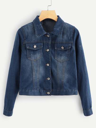 39943f67 Denim Jackets, Shop Denim Jackets Online | SHEIN UK