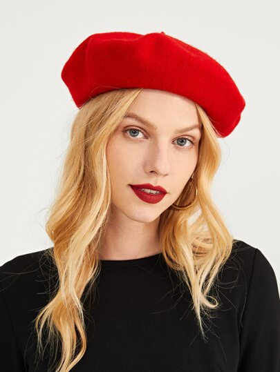 Plain New Year Beret Cap