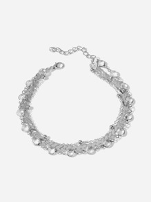 Arrow Design Layered Chain Anklet