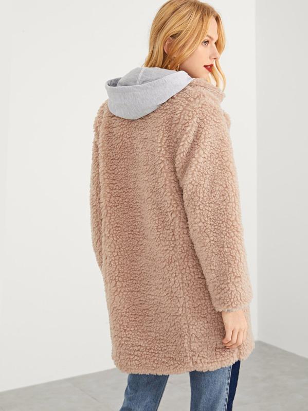 15355b1f2b Solid Faux Fur Teddy Coat | SHEIN UK