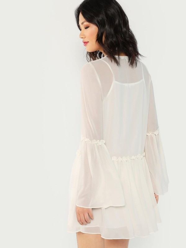 b8ea1ceb50 Cheap Shirred Long Sleeve Short Dress for sale Australia | SHEIN