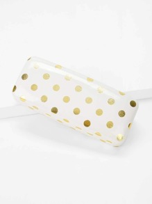 Polka Dot Print Glasses Case