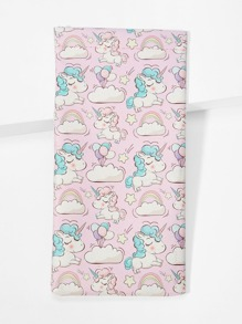 Unicorn Print Glasses Bag
