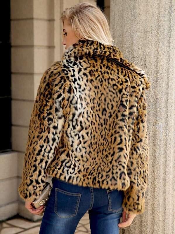 6737c04998f5 Leopard Open Front Outerwear | SHEIN