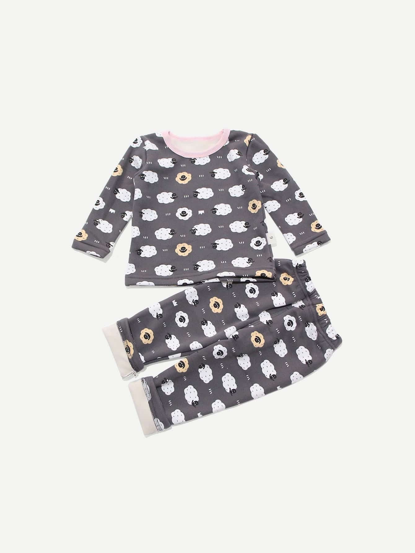 Boys Sheep Print Top With Pants Boys Sheep Print Top With Pants