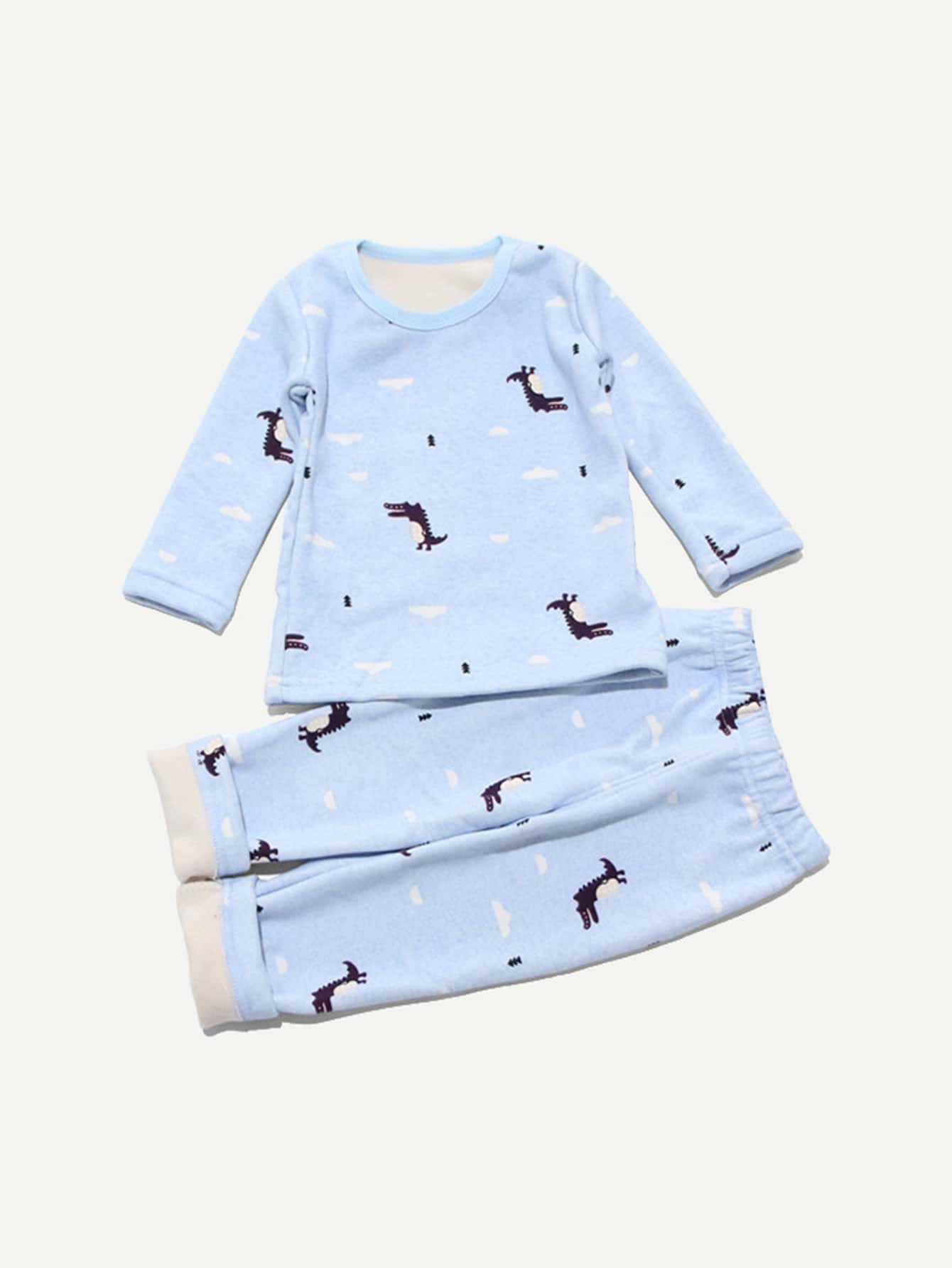 Boys Cartoon Print Top With Pants Boys Cartoon Print Top With Pants
