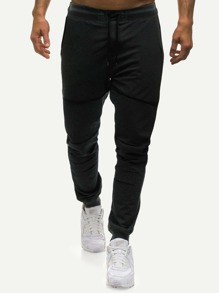 Men Split Drawstring Sweatpants
