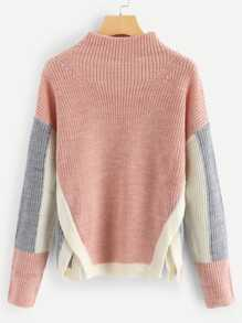 Side Slit Colorblock Jumper