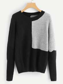 Two Tone Spliced Jumper