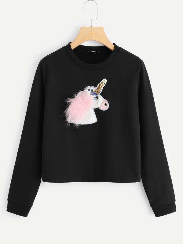 666159bd4eea99 Sudadera con dibujo de unicornio
