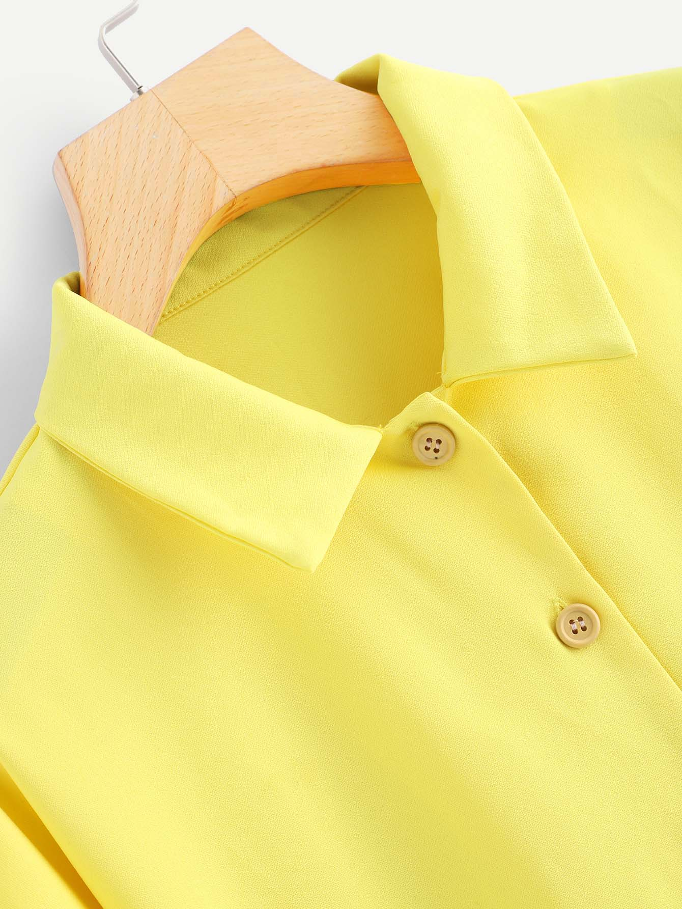 Neon Yellow Contrast Striped Crop Jacket Emmacloth Women