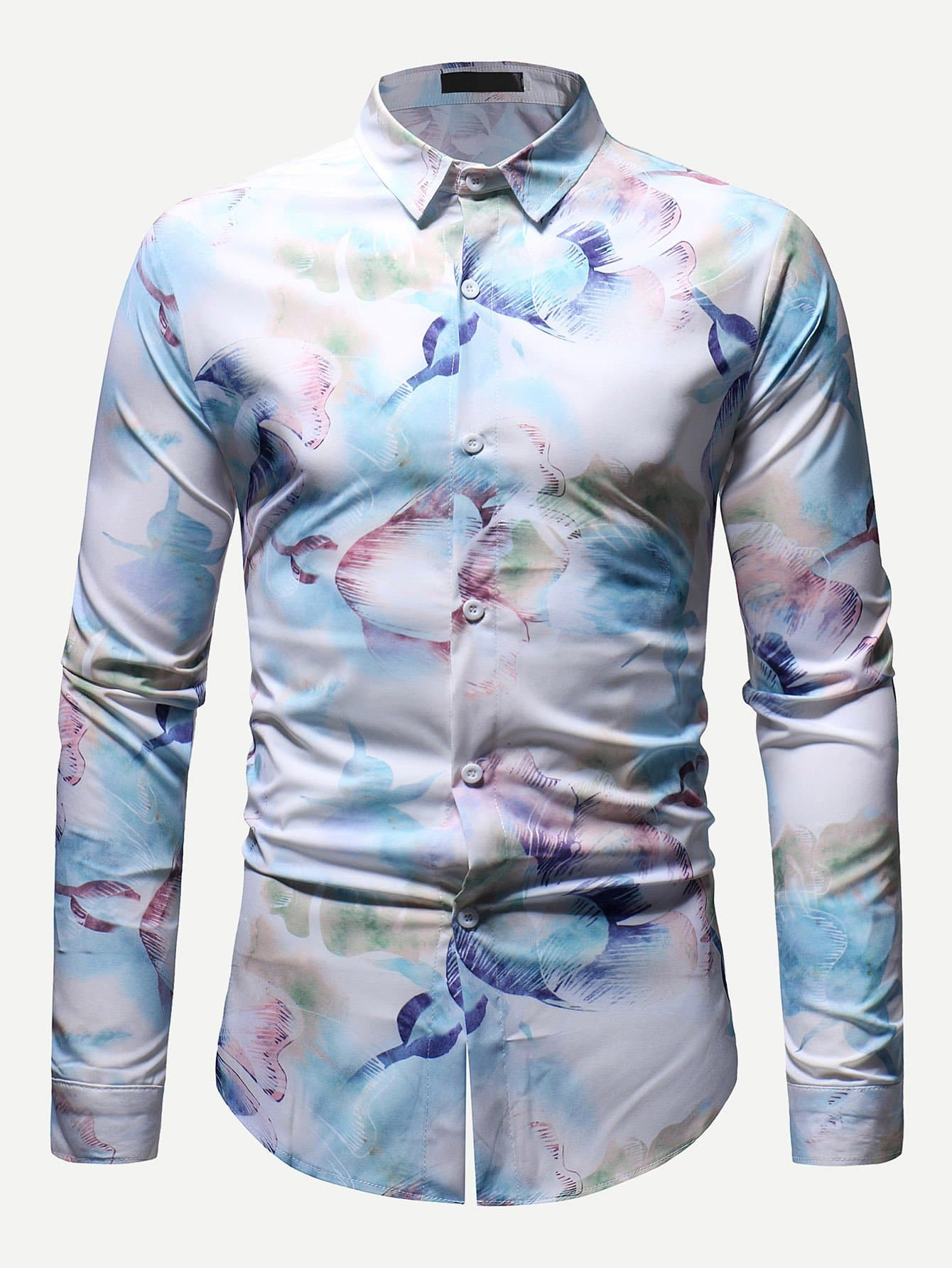 Men 3D Abstract Print Shirt Men 3D Abstract Print Shirt