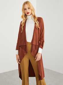 Waterfall Neck Longline Coat