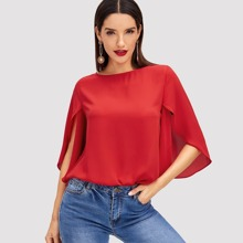 Slit Sleeve Solid Top