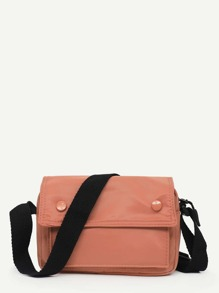 Flap Oxford Crossbody Bag